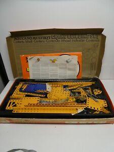 VINTAGE MECCANO MULTI KIT CRANE SET CONSTRUCTION BUILDING GAME -MANUALS BOOKS