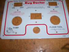 RUG DOCTOR Carpet Cleaner  R-40 switch plate #60407