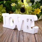 "Wooden Wood Letter Alphabet Word Free Standing Party Home Decor ""LOVE"" Theme"