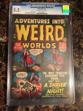 Adventures Into Weird Worlds #14 CGC 5.5 Stan Lee & Infantino PreCode Horror PCH