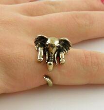 Animal Wrap Ring Gold Elephant Adjustable Size 8 Ring