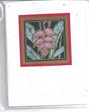 Card Blank Handmade Ginger Flower