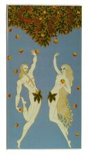 VINTAGE ERTE Art Deco Adam and Eve Fashion Design 5x7 Matted Print FREE SHIPPING