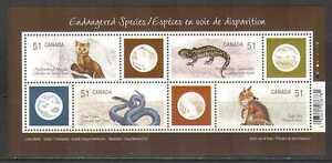 Canada 2006 Fox/Snake/Lizard/Animals 4v m/s (n24942)