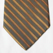"""NEW 60"""" Apt. 9 Silk Neck Tie Dark Brown with Orange Stripes 256"""