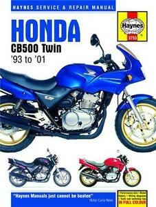 HAYNES WORKSHOP SERVICE REPAIR MANUAL HONDA CB500 TWIN 1993-2001