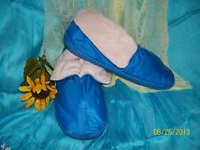 Ladies Bootie Slippers - Blue - Size Small (5-6)