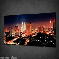 KUALA LUMPUR AT NIGHT SKY MODERN DESIGN CANVAS PRINT ART PICTURE READY TO HANG
