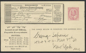 1911 #CEX-25d 1c Edward Canadian Express Card Used At Kingston Ont to New York