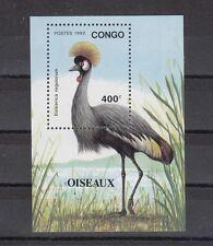 TIMBRE STAMP BLOC CONGO Y&T#54 OISEAU BIRD  NEUF**/MNH-MINT 1992 ~A44