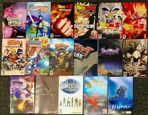 Playstation 2 Lot Of 16 Original Game Manuals - PLUS 1 Ratchet Clank Poster