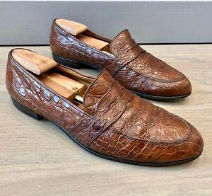 Gucci Men's Crocodile Loafers size 48 = US 14.5 *Authentic*