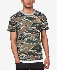 G Star Raw Sverre Camouflage Shirt Mens XXL Grey/Green Camo w/Orange Logo NWT