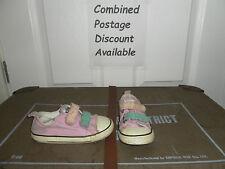 Pink Velcro Converse All Stars (Not Hi Tops) Kids Size 8