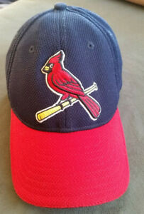 St Louis CARDINALS Red Bird Fitted New Era Ball Cap Blue/Red YOUTH Small/Medium