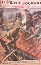Petit journal 1926 / ORAGE INONDATION / SULTAN du MAROC / ZEP / POMPIER
