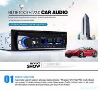 AU Car Stereo Bluetooth Handsfree Radio 1DIN SD/USB/AUX/FM Head Unit MP3 Player