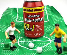 Coca Cola Dose mit Mini Fußball Spiel - Coke Can Germany miniature Soccer Game