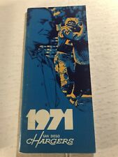 1971 SAN DIEGO CHARGERS Media Guide Yearbook HADL Walt SWEENEY Gary GARRISON