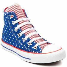New Converse Chuck Taylor All Star Men's Red/White/Blue Stars Hi Top 144826F