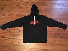 Nike Therma Fit Hoodie Sweatshirt Men's Large Pullover Chest Logo Black