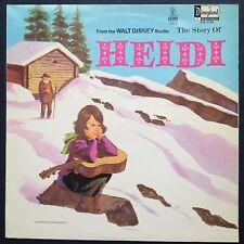 Walt Disney STORY OF HEIDI Storyteller Record LP 1969 Johanna Spyri Camarata UK