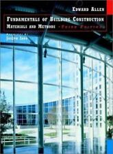 Building Construction : Materials and Methods by Edward Allen (1998, Hardcover)