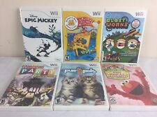 Lot of 6 Nintendo Wii Games All Are Complete Epic Mickey Build A Bear Purr Pals