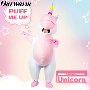 Unicorn Inflatable Costume for Adult Halloween Costume Blow Up Cosplay Supplies