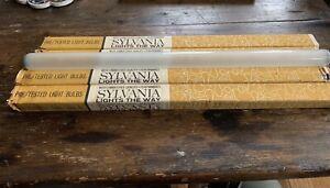 "Sylvania NOS New Frosted Lumiline 30Watt 17,75"" Tube Incandescent"
