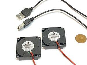 2 X USB PLUG 40mm 5v fan Brushless Exhaust Centrifugal Blower 4010s Gdstime C35