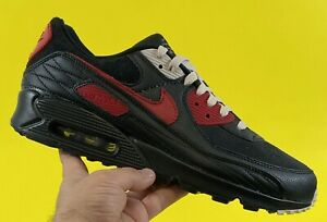 Nike By You ID Air Max 90 Leather Suede 'Black Red' Men's Size 11.5 [DJ3176-991]