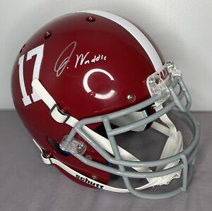 Jaylen Waddle SIGNED Alabama Authentic Full Size Helmet w/ Fanatics COA Holo
