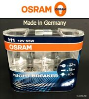 H1 OSRAM 12V 55W NIGHT BREAKER +90% Brighter Light Bulb Made in Germany #ew x 2