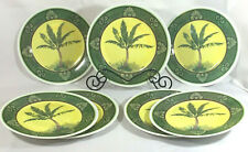 """Palm Tree Melamine Plates by Four Star  Dated 2003 set of 7 Eleven Inch 11"""""""