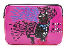 "Marc Jacobs Neoprene Pop Pink Rue Cat iPad 13"" Computer Sleeve Case NWT"