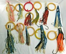 """11 Large Squid Deep Sea Fishing Lures/Bait with Rigs Size Range 9"""" - 13"""""""