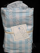 Pottery Barn Kids Eleanor Check Gingham Bed Duvet Cover Twin Light Blue Bedroom