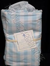 Pottery Barn Kids Eleanor Check Gingham Bed Duvet Cover Twin Light Blue Bedroom