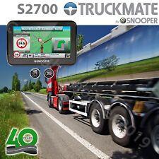 "Snooper S2700 Truckmate GPS Truck HGV & Car Sat Nav 4.3"" FREE UK & EU MAPS"