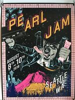 Pearl Jam seattle poster faile the home shows 2018 tour safeco field pj concert