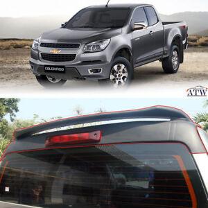 Equip 12-15 Chevrolet Chevy Colorado ABS Plastic Matte Black Rear Tail Spoiler