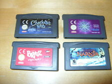 GBA Games -Charlottes Web-Bratz-Narnia-Who Wants To Be A Millionaire *FREE P&P*