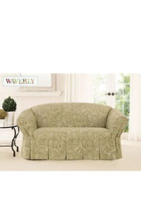 NIP Waverly Sure Fit Fanciful Autumn 100% Cotton Love Seat Cover