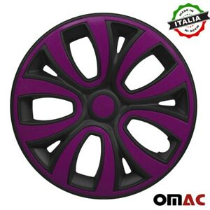 "15"" Inch Wheel Rim Cover for Nissan Matt Black with Violet Insert 4pcs Set"
