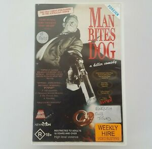 MAN BITES DOG 1992 Film VHS Pal 21st Century Ex-Rental