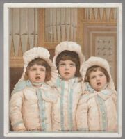 "[B68126] 1884 TRADE CARD THE GREAT ATLANTIC & PACIFIC TEA COMPANY ""EASTER BELLES"
