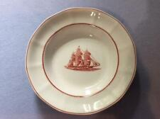 Wedgwood Flying Cloud Red Jacket Georgetown Collection rust rimmed soup bowl