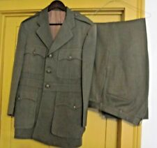 WWII Chief Petty Officer Green Uniform w/ Trousers - ID'd on laundry tag?
