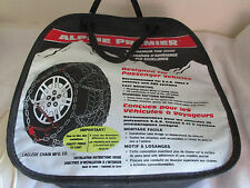 "ALPINE PREMIER~Tire Cable Chains~1540~Diamond Pattern~ 14"" 15""  16"" Wheels~NIB"